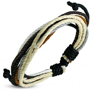 Fashion Multi Color Adjustable Wrap Rope Bracelet
