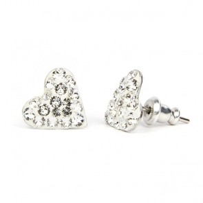 Hearth Stainless Steel Stud Earrings w/ Crystal Swarovski® Elements Crystals