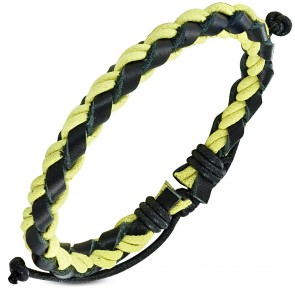Fashion Braided Wrap Rope Adjustable Black Leather Bracelet