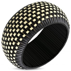 DIA-65mm | Fashion Basket Weave Woven Wide Bangle