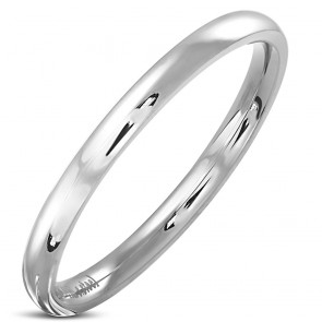 2mm | Stainless Steel Engravable Comfort Fit Half-Round Band Ring