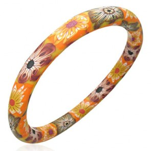 DIA65mm | Fashion Fimo/ Polymer Clay Flower Woman Bangle