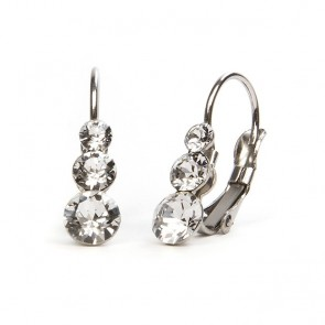 Snowman Stainless Steel Hook Earrings w/ Crystal Swarovski® Elements Crystals