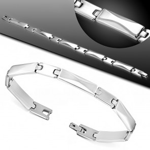 L-21cm W-7mm | Stainless Steel Panther Link Bracelet