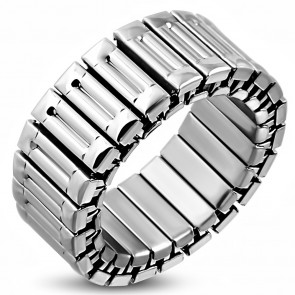 9mm | Stainless Steel Panther Link Stretch Ring