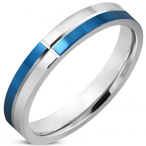 3mm | Stainless Steel 2-tone Criss-Cross Grooved Comfort Fit Wedding Flat Band Ring