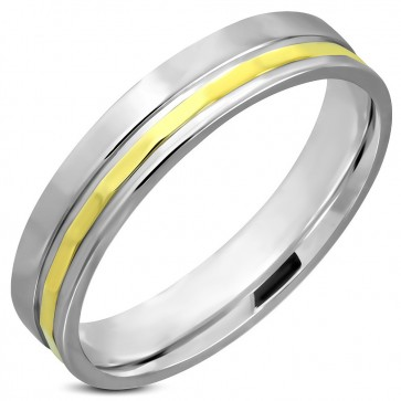 5mm | Stainless Steel 2-tone Comfort Fit Wedding Band Ring