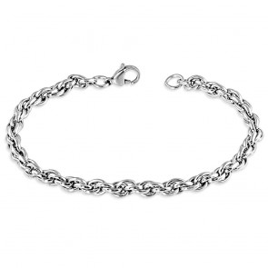 L-23cm W-5mm | Stainless Steel Elliptical Link Chain Bracelet