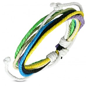 Fashion Multi Color Wrap Rope Adjustable Bracelet