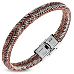 Stainless Steel Multi Color Floss Braided Wrap Bracelet