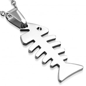 Stainless Steel Fishbone Pendant
