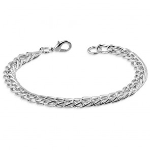 Fashion Alloy Pave Light Flat Curb Link Bracelet